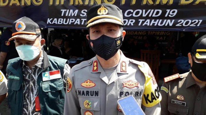 Kapolres Bogor AKBP Harun di Cibinong, Kabupaten Bogor, Kamis (8/7/2021).