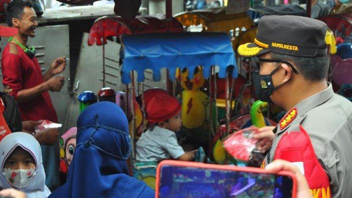 Kapolresta Bogor Kota Grebek Protokol Kesehatan di Pasar Bogor
