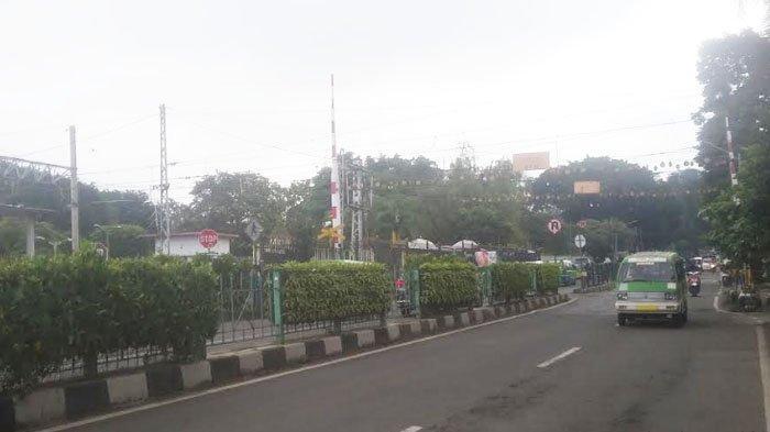 Lalu Lintas Jalan Jalan Kapten Muslihat Seberang Stasiun Bogor Saat Ini Ramai Lancar