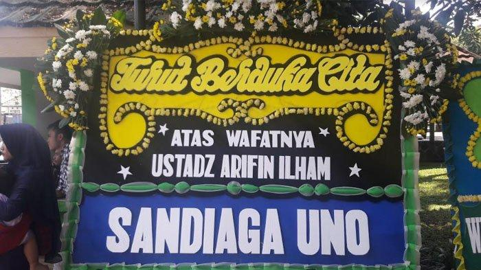 Karangan Bunga Padati Rumah Duka Ustaz Arifin Ilham Sejak Pagi, dari Sandiaga hingga Maruf Amin