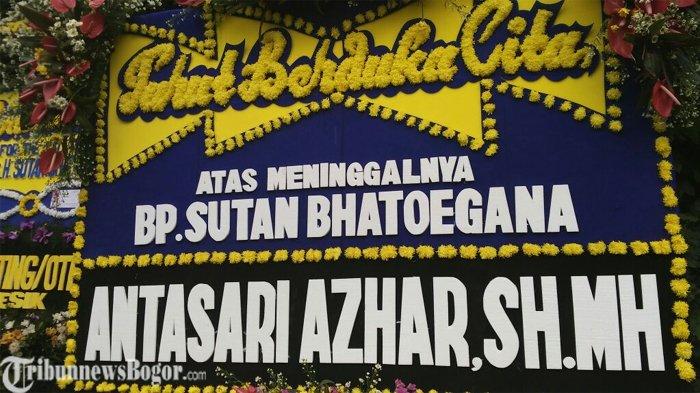 Turut Berduka, Antasari Azhar Kirim Karangan Bunga Untuk Sutan Bhatoegana