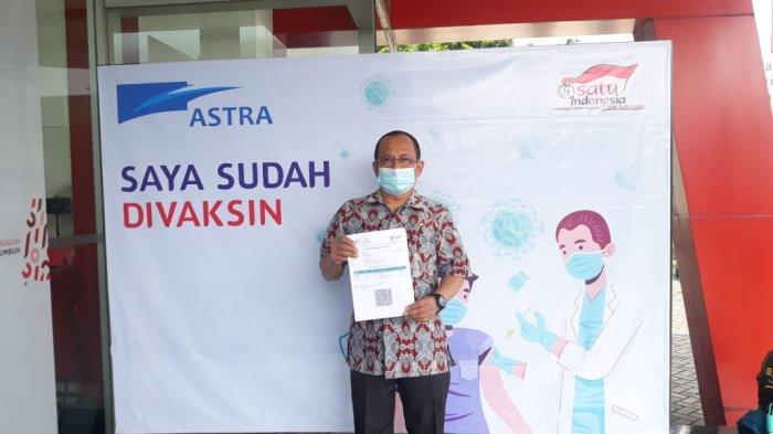 Karyawan dan Keluarga Karyawan Grup Astra antusias mengikuti vaksinasi di Bogor