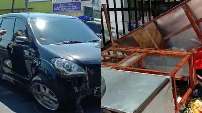 Kecelakaan di RE Martadinata Kota Bogor, Motor Hancur hingga Gerobak Bakso Terguling