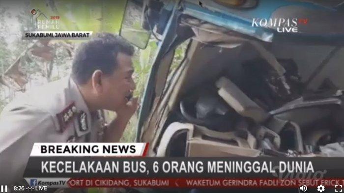 BREAKING NEWS: Kecelakaan di Sukabumi, 6 Korban Tewas 1 Di Antaranya Sopir Bus