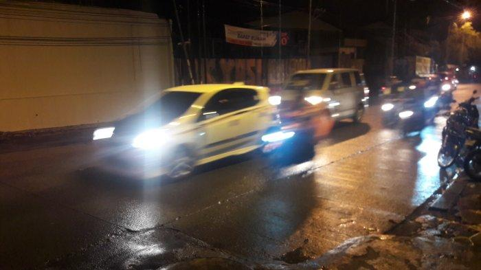 Masih Hujan Gerimis, Lalu Lintas di Kedung Halang Bogor Malam Ini Ramai Lancar
