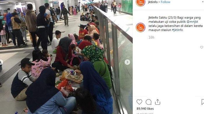 Ingat ! Penumpang yang Makan dan Minum di Kereta MRT Bakal Diusir Petugas