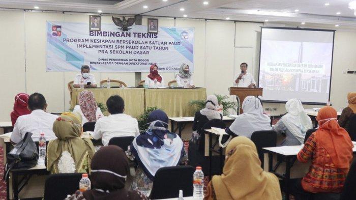 Samakan Persepsi Masa Transisi Anak, Disdik Kota Bogor Gelar Bimtek Bersama PAUD dan SD