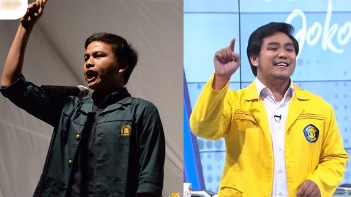 Ini Beda Gaya Zaadit Dan Ardhi Saat Sampaikan Kritik Ke Jokowi, Kartu Kuning dan Desak-desakan