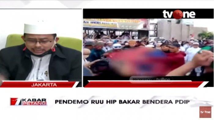 Bendera PDIP Dibakar Saat Demo RUU HIP, Ketua PA 212: Kadernya Sendiri Pernah Bakar Bendera Demokrat