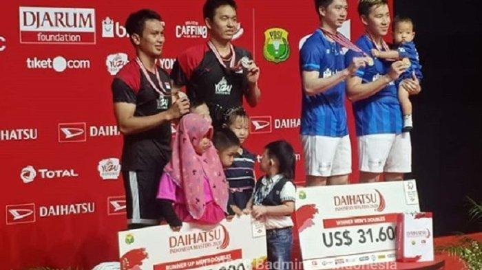 Hasil Indonesia Masters 2020 - Kevin/Marcus Pertahankan Gelar Setelah Kalahkan Seniornya