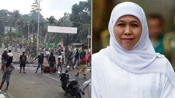 Kerusuhan di Manokwari, Khofifah : Kami Mohon Maaf, Itu Bukan Mewakili Suara Masyarakat Jawa Timur