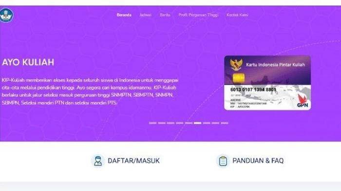 Link Daftar KIP-Kuliah untuk UTBK SBMPTN 2021, Akses kip-kuliah.kemdikbud.go.id Cek Syaratnya