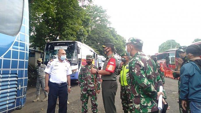 Jelang Tahun Baru, Kodim 0606/Kota Bogor Cek Kesiapan Protokol Kesehatan di Terminal Baranangsiang