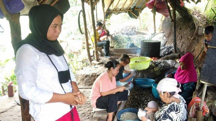 Produsen kolang kaling mengatakan bahwa kolang kaling yang di produksi warga Pabangbon mengalami peningkatan.