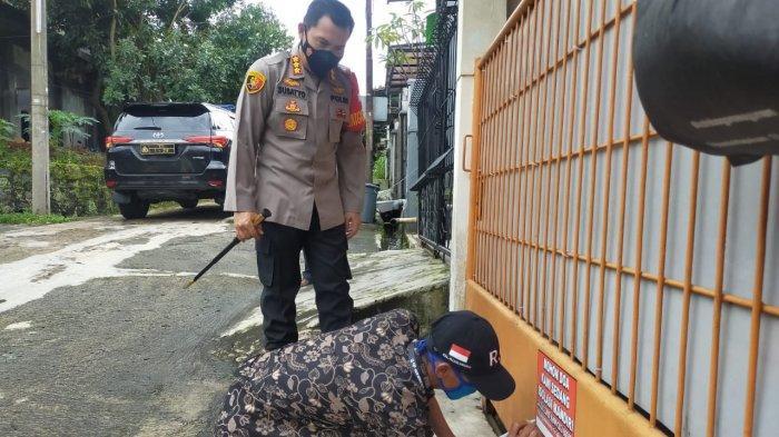 Pantau Warga Yang Sedang Isolasi Mandiri, Kapolresta Bogor Kota Salurkan Bantuan Paket Sembako