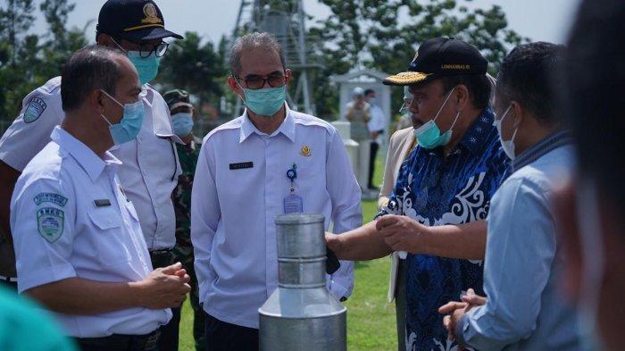 Kunjungan kerja (kunker) Komisi V DPR - RI ke kantor Stasiun Klimatologi Kelas I di Kecamatan Bogor Barat