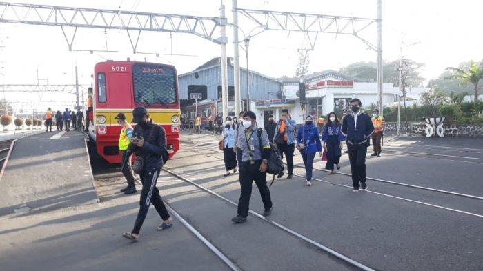 Hari Pertama Pemeriksaan STRP di Stasiun Bogor, Jumlah Penumpang KRL Turun 50 Persen