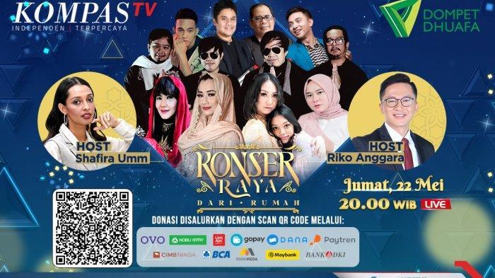 Konser Raya dari Rumah Kompas TV Bersama Dompet Dhuafa, Dimeriahkan Reza Artamevia hingga Radja