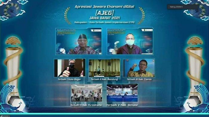 Selamat ! Kota Bogor Sabet 3 Kategori Penghargaan dalam Rakorwil TP2DD dan TPID se-Jawa Barat
