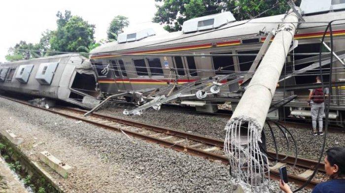 Penumpang Cerita Detik-detik Kereta Terguling di Bogor, Sebut KRL Sempat Berhenti: Kabel Atas Goyang