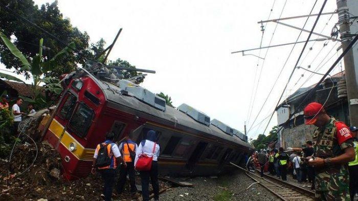 6 Orang Alami Luka Ringan Akibat KRL Commuter Line Anjlok di Bogor