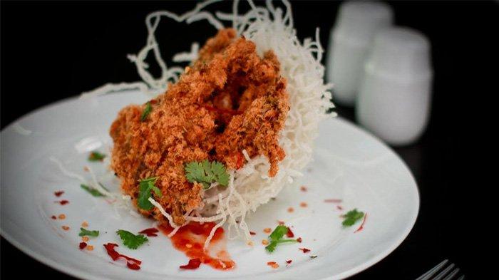 Lezatnya Kepiting Abon Ayam Dipadukan dengan Saus Kari Ala Aston Bogor Hotel & Resort Ini
