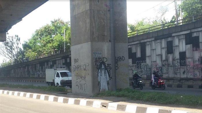 Meresahkan Pengguna Jalan, PT MSJ Akhirnya Hapus Gambar Kuntilanak di Underpass Tol BORR