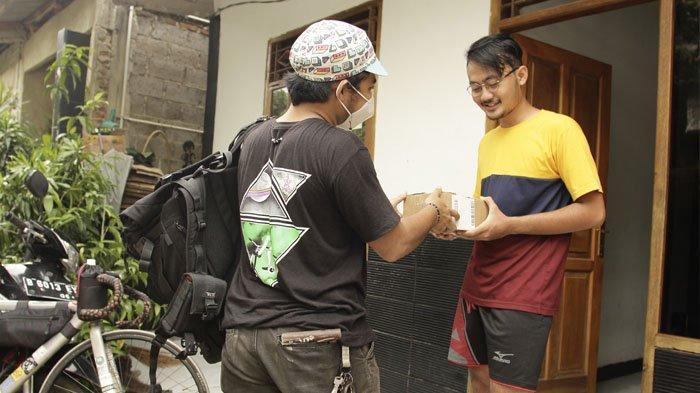 Kurir sepeda di Jakarta, Fauzan.