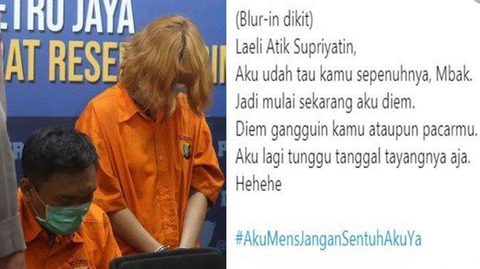 Curhat istri dari suami yang direbut oleh tersangka mutilasi HRD Rinaldi Harley Wismanu (Tribun Jakarta/Warta Kota/Twitter)