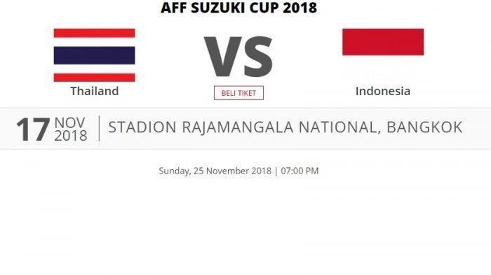Link Live Streaming Timnas Indonesia Vs Thailand - Siaran Langsung Piala AFF 2018 RCTI pukul 18.30