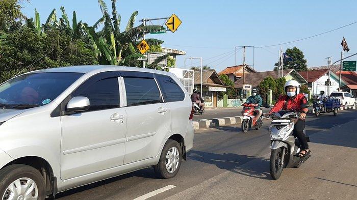 Cuaca Cerah, Arus Lalu Lintas di Jalan Raya Parung Menuju Kemang Bogor Tak Ada Hambatan