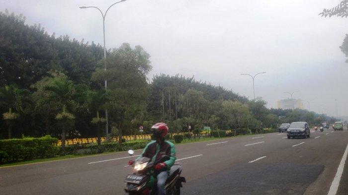 Kondisi Lalu Lintas di Baranangsiang Bogor Sabtu Pagi