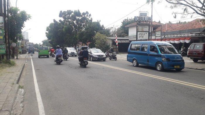 Kondisi Lalu Lintas Jalan KS Tubun Bogor Kamis 3 September 2020