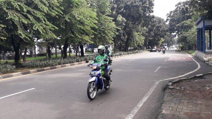 Kondisi Lalu Lintas Jalan Raya Pajajaran Kota Bogor Jumat 27 Maret 2020
