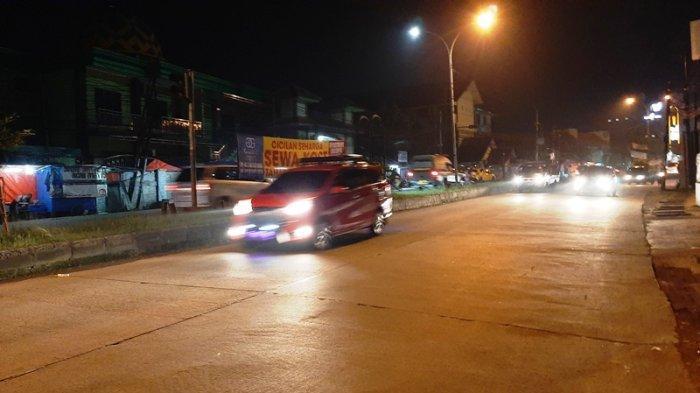 Kondisi Lalu Lintas di Citeureup Bogor Kamis 11 Maret 2021 Malam