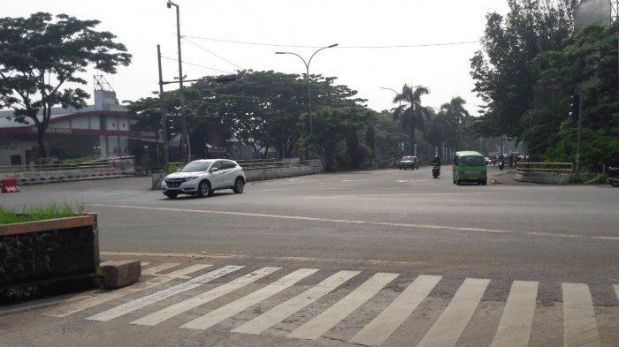 Lalu Lintas Kendaraan di Simpang Sentul Selasa Pagi Ini Ramai Lancar