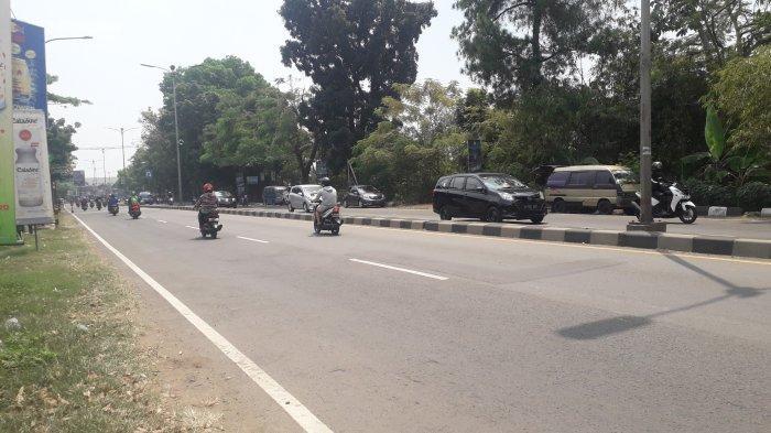 Kondisi Lalu Lintas Jalan Raya Jakarta-Bogor Senin 31 Agustus 2020