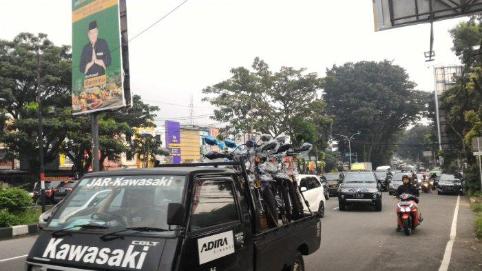 Info Lalu Lintas - Jalan Pajajaran Arah Tol Bogor Dipadati Kendaraan dari Ciawi