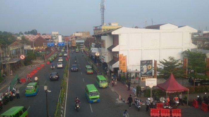 Kondisi Lalu Lintas Jalan Kapten Muslihat Bogor Senin 7 September 2020