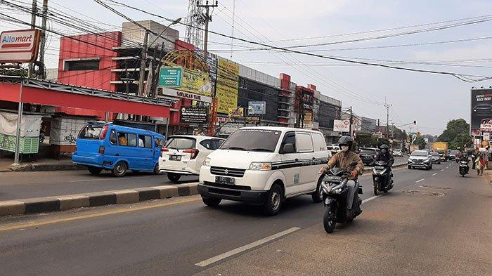 Info Lalu Lintas - Jalan Raya Parung Bogor Lancar Kedua Arah, Cuaca Cerah