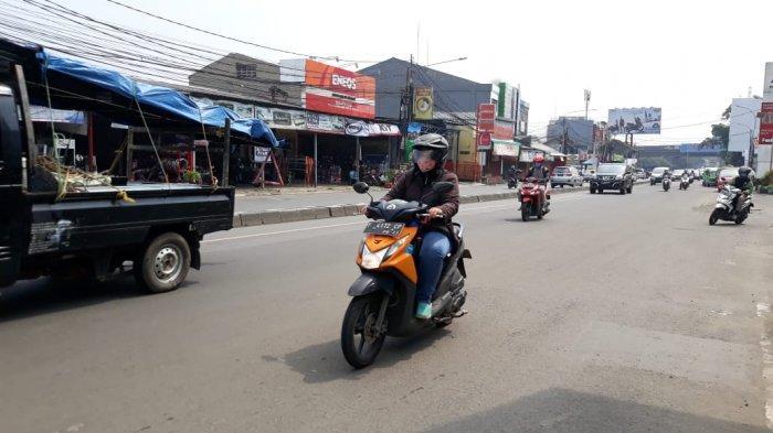 Kondisi Lalu Lintas di Jalan KS Tubun Bogor Jumat 8 Mei 2020