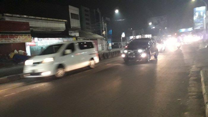 Kondisi Lalu Lintas Jalan KS Tubun Bogor Rabu Malam