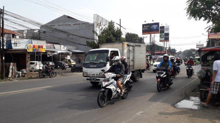 Kondisi Lalu Lintas di Jalan KS Tubun Bogor Selasa 24 Maret 2020