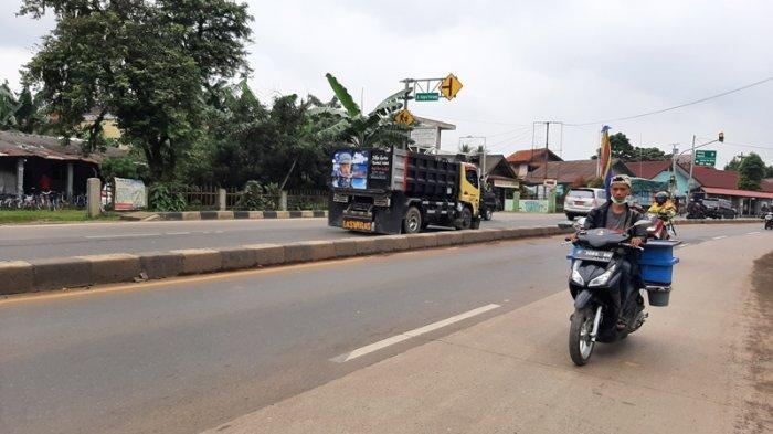 Kondisi Lalu di Jalan Raya Parung Bogor Sabtu 13 Februari 2021