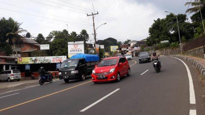 Kondisi Lalu Lintas di Jalan Raya Puncak Sabtu 20 Juni 2020 Sore