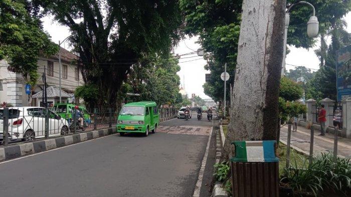 Info Lalu Lintas - Jalan Kapten Muslihat Kota Bogor Terpantau Lancar, Cuaca Cerah