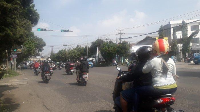 Lalu Lintas di Simpang Talang Kota Bogor Saat Ini Ramai Lancar, Cuaca Cerah