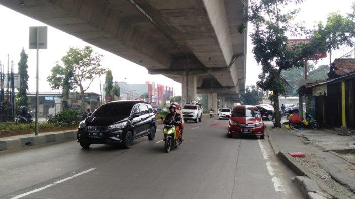 Kondisi Lalu Lintas di Jalan Sholeh Iskandar Bogor Kamis 16 Juli 2020