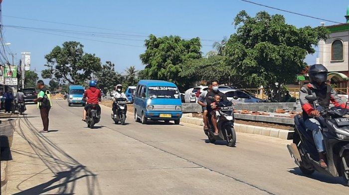 Kondisi Lalu Lintas Simpang Bambu Kuning Bogor, Arus dari Citayam ke Bojonggede Lancar