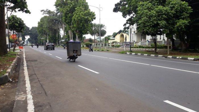 Kondisi Lalu Lintas Jalan Sudirman Kota Bogor 1 Mei 2020